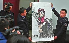 西安三男子入室偷走名家书画作品 真品价值200万