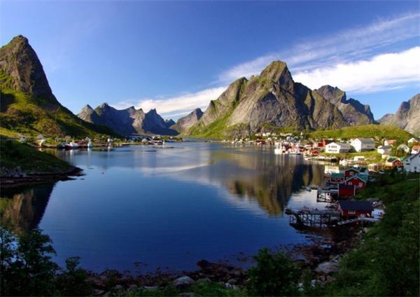 2。雷讷(挪威)这是挪威最美的村庄,位于罗弗敦群岛上,雷讷的美,只能用图片来告诉你!