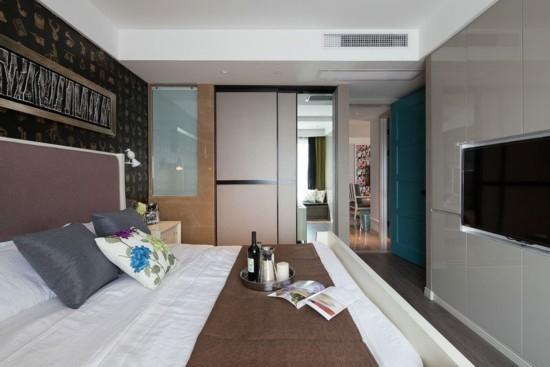 卧室装修效果图-70平米二居室新婚时尚装修 3套小户型装修效果图