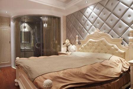 卧室蓝色瓷砖效果图