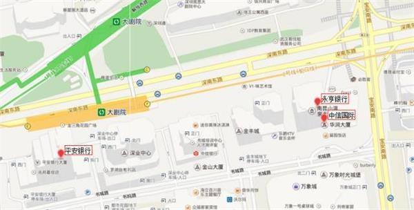 金融圈地图导航又来了!深圳各大金融机构原来在这里!