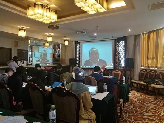 2017年1月11日下午,兰世立通过视频召开了一场新闻发布会。