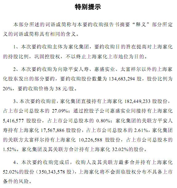 上海家化:家化集团拟要约收购公司20%股份 明起复牌
