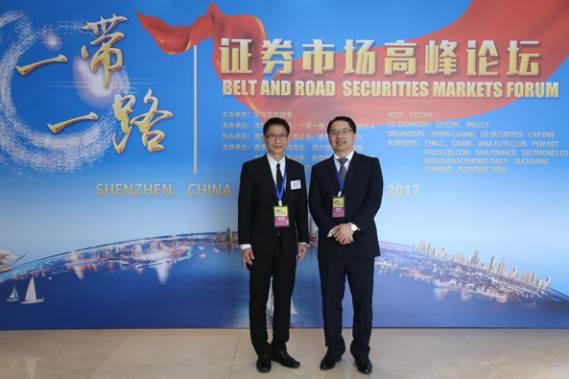 泰国交易所Dr. Santi Kiranand与智信财经郭信麟