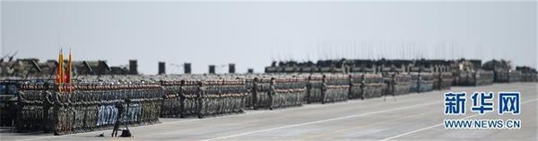 这是受阅部队。新华社记者