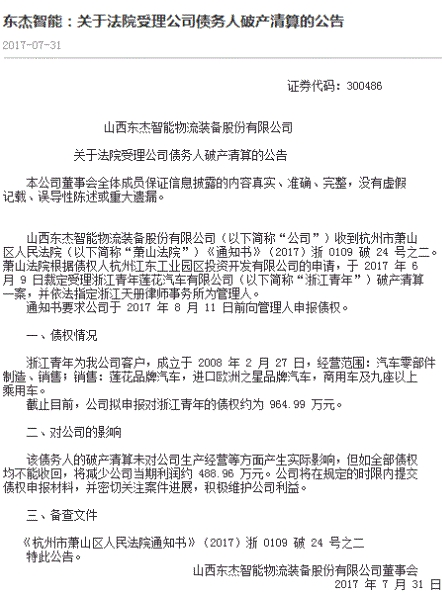 长航凤凰回应控股股东申请破产清算:未收到法院裁定受理