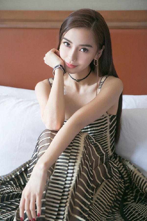 杨颖可爱的图片
