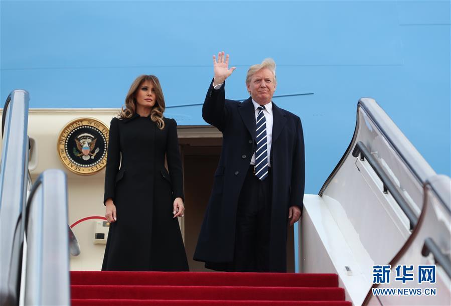 美国总统特朗普抵达北京
