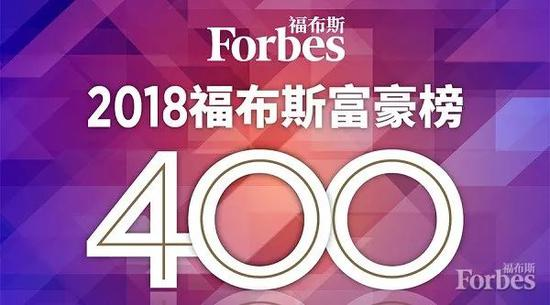 2018福布斯中國400富豪榜