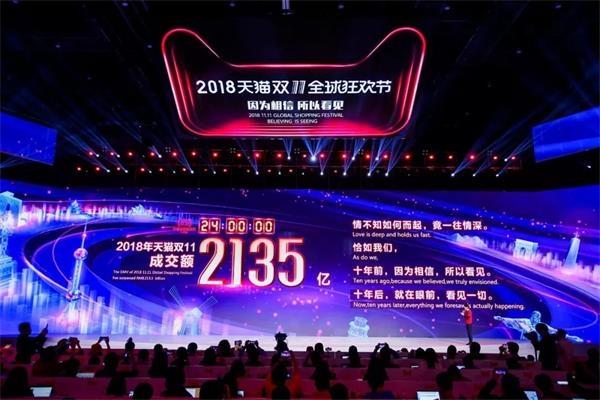 """中国人双十一""""买""""出世界纪录 光天猫就成交2135亿"""
