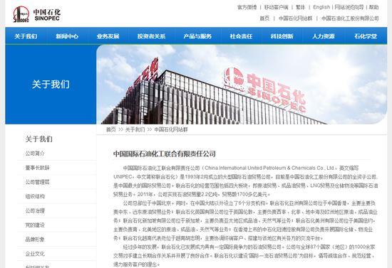 中国国际石油化工联合有限责任公司