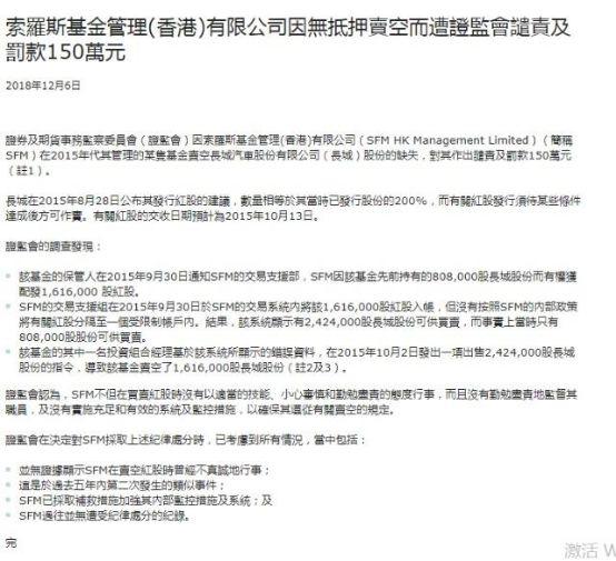 索罗斯基金在香港领150万罚单!最新持仓:大跌前抛售Facebook加仓苹果