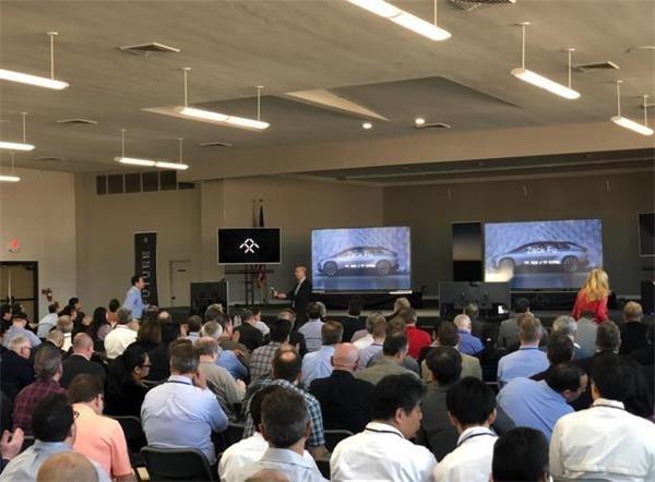 法拉第FF91在美国召开超百人峰会 贾跃亭罕见现身演讲