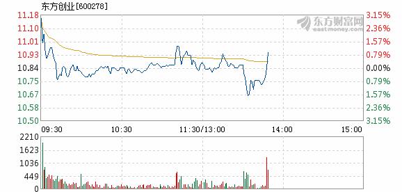 东方创业4月17日快速反弹