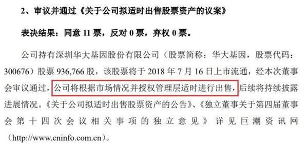 """金沙线上娱乐城【正版授权】:超200亿市值解禁!被""""癌变""""质疑的华大基因又将迎来这个关口"""