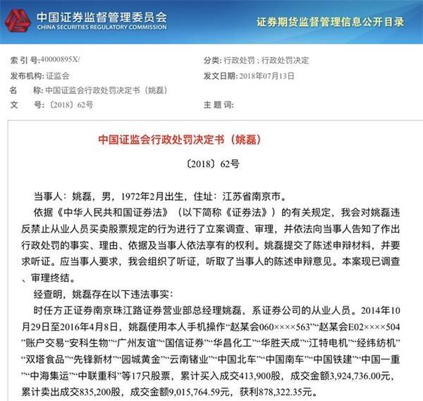 e乐彩app最新版本:17名证券从业人员炒股遭罚_屡触红线罚没款接近7000万