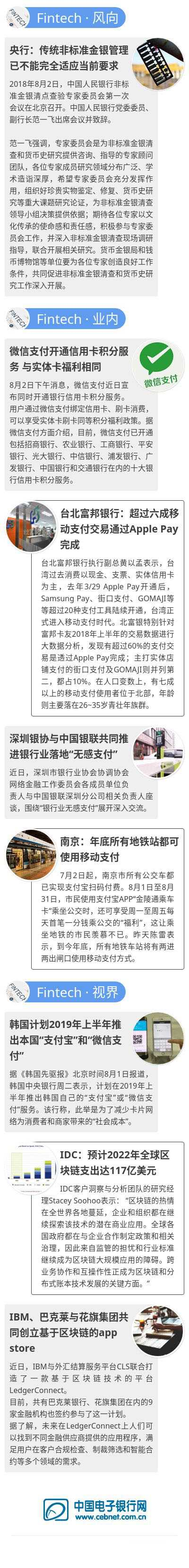 【Fintech日报】微信开同信用卡积分;银联深圳推行无感支付