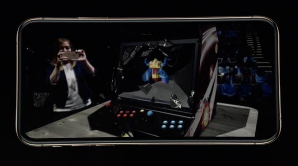 苹果发布会AR游戏演示