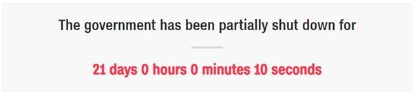 """22天!美國政府關門時間創紀錄 華盛頓""""一片狼藉"""":垃圾無人打掃 結婚證辦不了"""
