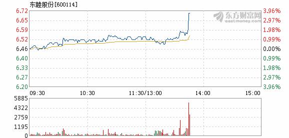 东睦股份1月25日快速上涨