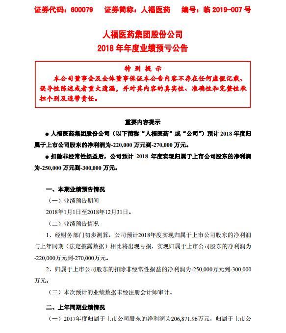 人福�t��l布公告�A�2018年�衾�����p