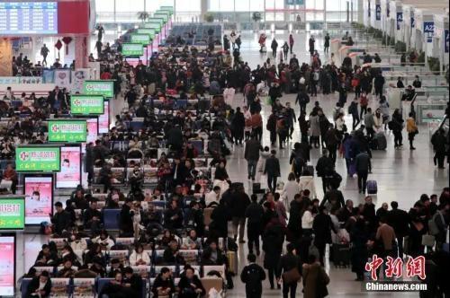 资料图:2019-01-16,西安北站。中新社记者