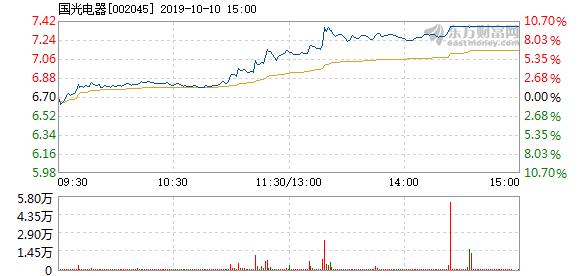 国光电器 国光电器10月10日快速上涨