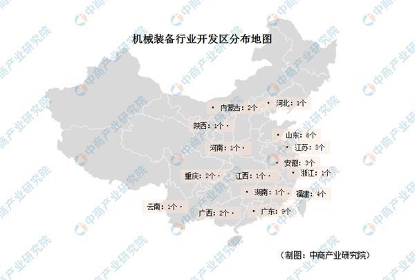 机械装备行业招商引资地图:全国40个机械装备开发区盘点分析(附名单)