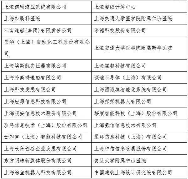 上海市人工智能专项资金拟支持单位公示 资金总额超6亿元