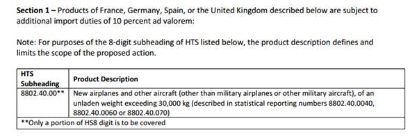 极限施压!美公布最高达25%征税清单 10月18日对空客、欧盟农产品开征