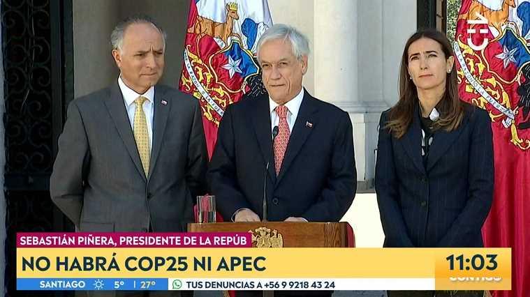 智利總統宣布取消11月和12月舉辦的APEC領導人非正式會議和氣候大會