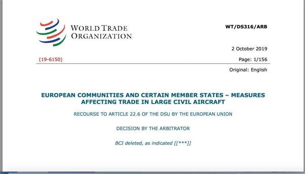 "WTO裁决欧盟违规补贴空客!美国""磨刀霍霍""向欧盟 世界经济将添变数"