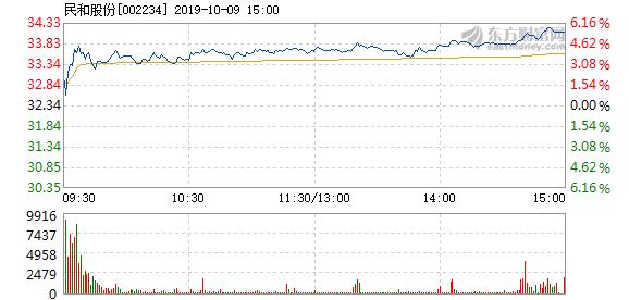 民和股份 民和股份10月9日快速上涨