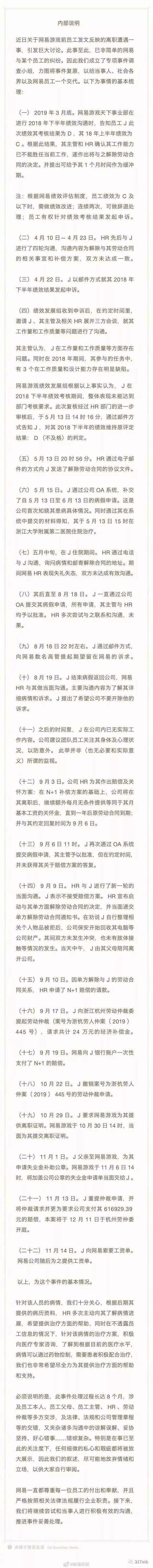 暴力裁人绝症员工 网易致歉并暴光更多细节!丁磊缄默沉静 刘强东不测刷屏  1 第10张