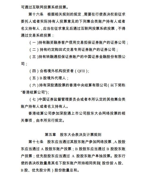 深交所宣布《上市公司股东大会收集投票实施细则》  1 第2张