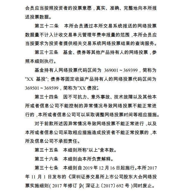 深交所宣布《上市公司股东大会收集投票实施细则》  1 第7张