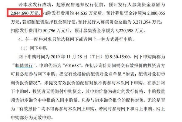 邮储银行明日申购 预计募资284.47亿元
