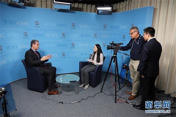 采访:走进世博是中国推进经济全球化的持续承诺——访世贸组织总干事阿泽维多