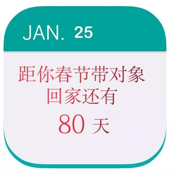 <b>距离带对象回家过春节还有80天 这5件事情你做好了吗?</b>