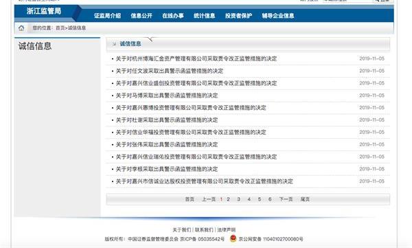 私募基金监管风暴:浙江证监局对6家私募下发监管函