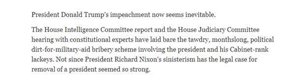 美国众议院将动手草拟弹劾特朗普条目 民主党加快推动弹劾历程