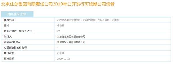 北京住总申请发行22亿元可续期公司债已获受理-中国网地产