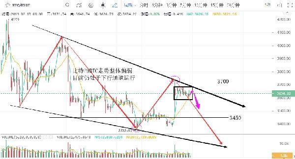 陆睿铭:2019年2月13日数字货币BTC走势分析建议参考