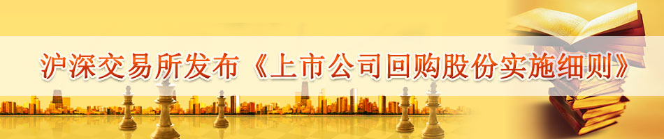 "The Shanghai and Shenzhen Stock Exchanges issued the ""Detailed Rules for the Repurchase of Listed Companies"""
