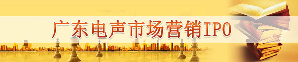广东电声市场营销IPO