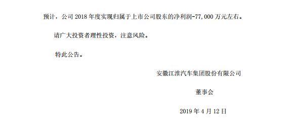 江淮汽车:与大众汽车没有关于股权收购的方案