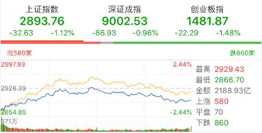 【今日盘点】沪指失守2900点,连续杀跌后需注意两件事情;基金市场普遍回调,黄金主题基金逆势上涨!