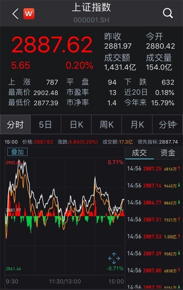 A股缩量震荡沪指微涨0.2% 医药股表现活跃