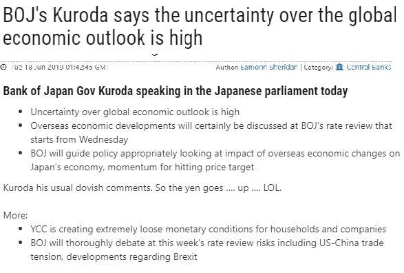 黑田東彥:日本央行將適當引導政策 關注海外經濟變化