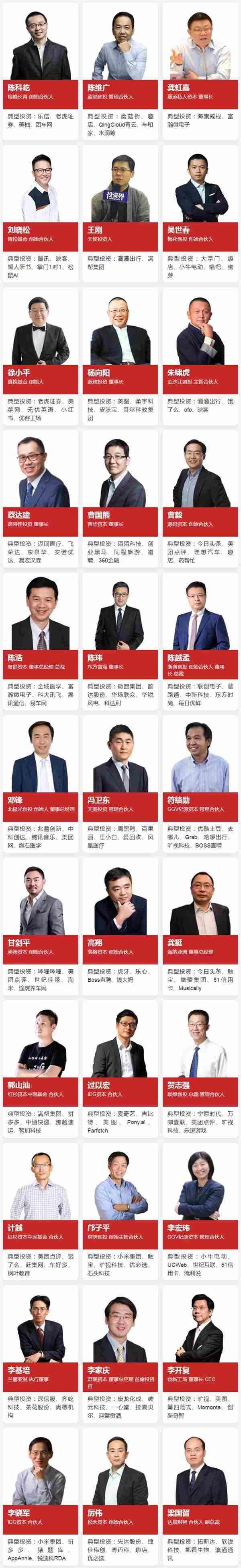 重磅!2019「投资界TOP100」投资人榜单发布